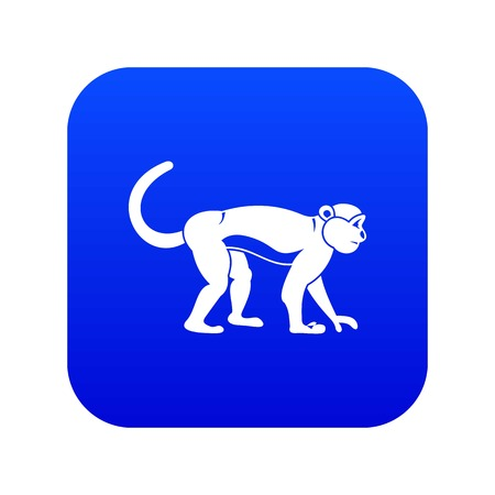Macaque icon digital blue for any design isolated on white vector illustration