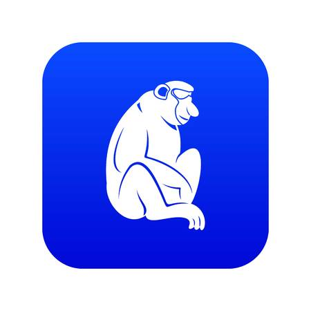 Orangutan icon digital blue for any design isolated on white vector illustration Banque d'images - 127732361