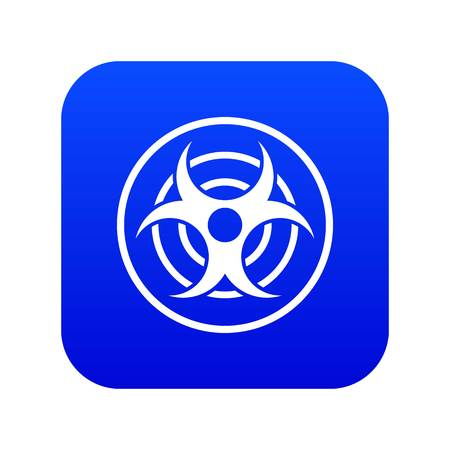 Sign of biological threat icon digital blue for any design isolated on white vector illustration Illustration