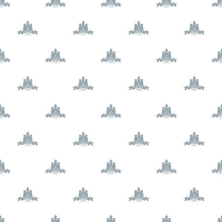 Royal castle pattern vector seamless