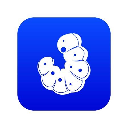 Worm icon digital blue