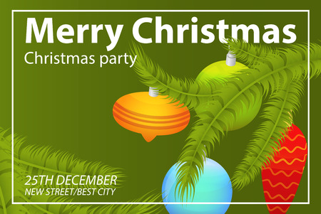 Christmas party concept background. Isometric illustration of christmas party vector concept background for web design