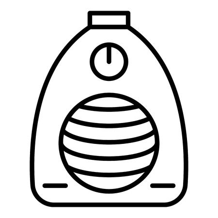 Symbol für elektrische Hausheizung. Umreißen Sie das Vektorsymbol für die elektrische Hausheizung für das Webdesign isoliert auf weißem Hintergrund Vektorgrafik