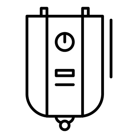 Boiler icon. Outline boiler vector icon for web design isolated on white background