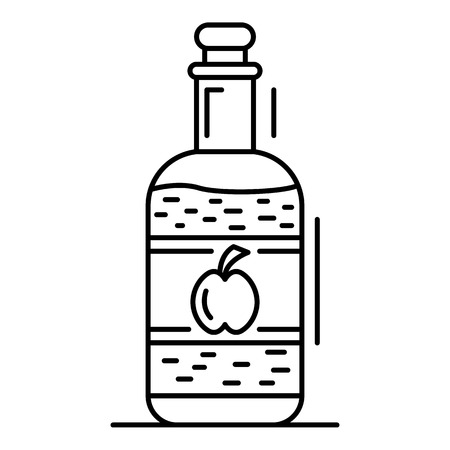 Apple vinegar icon. Outline apple vinegar vector icon for web design isolated on white background Illustration