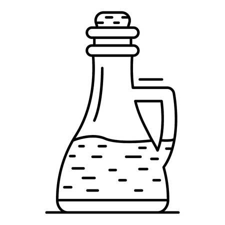 Glass bottle vinegar icon. Outline glass bottle vinegar vector icon for web design isolated on white background