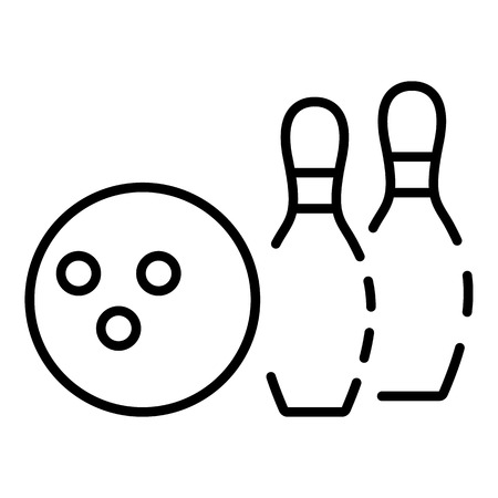 Bowling club icon, outline style