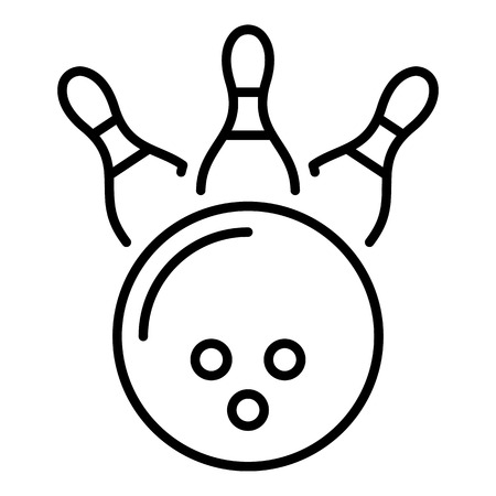 Bowling kingpin strike icon. Outline bowling kingpin strike vector icon for web design isolated on white background
