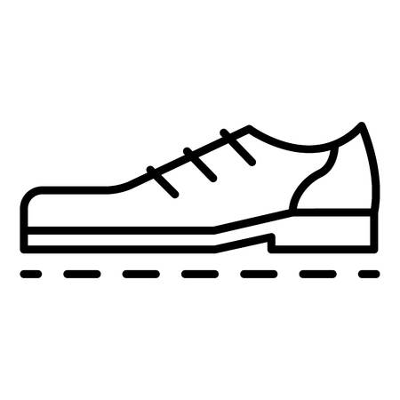 Bowling shoes icon, outline style