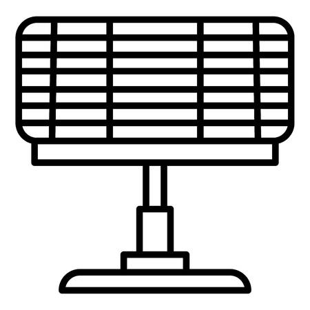 Eco home heater icon, outline style