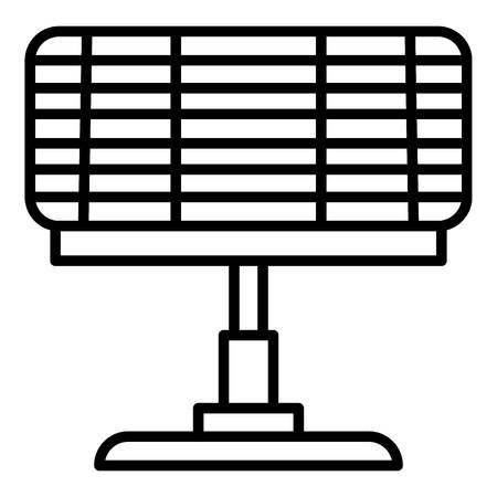 Eco huis verwarming pictogram, Kaderstijl Vector Illustratie