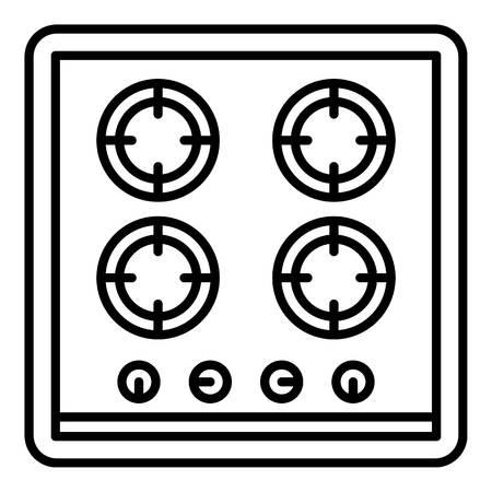Koken fornuis pictogram. Overzicht kookfornuis vector pictogram voor webdesign geïsoleerd op een witte achtergrond