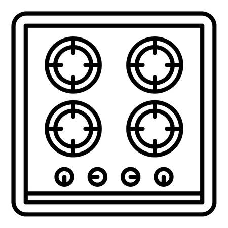 Cooking stove icon. Outline cooking stove vector icon for web design isolated on white background