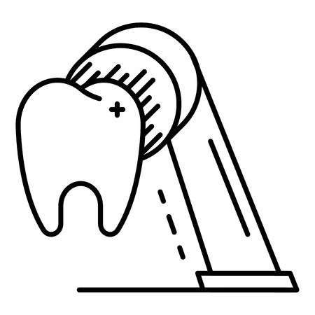 Clean tooth icon, outline style Banque d'images - 111916530