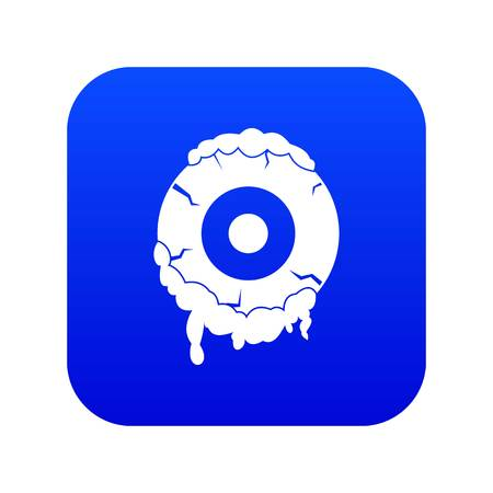 Scary eyeball icon digital blue for any design isolated on white vector illustration