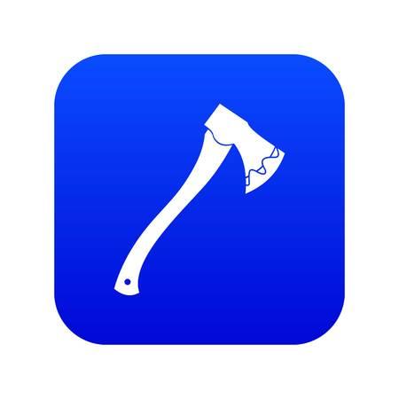 Axe In blood icon digital blue