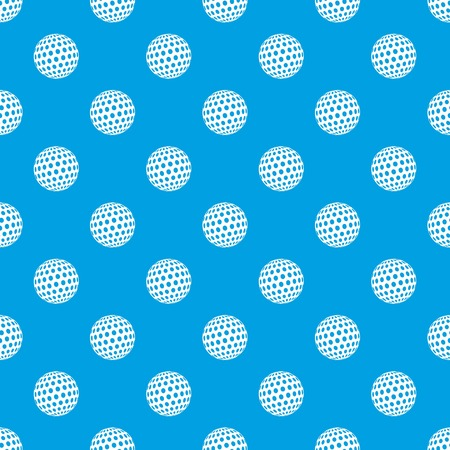 Golf ball pattern vector seamless blue repeat for any use Çizim