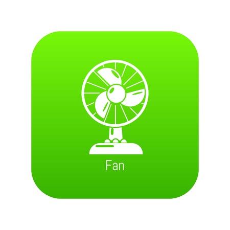 Fan icon green vector