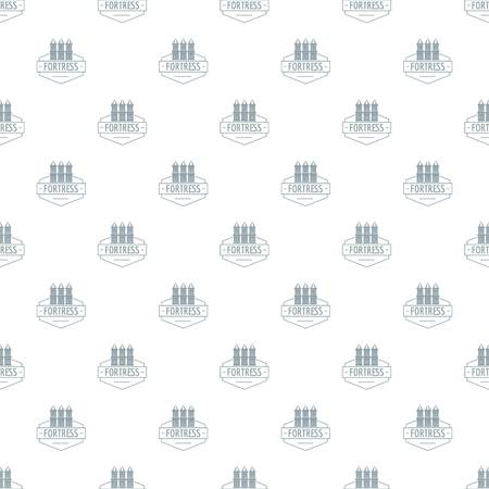 Fortress pattern vector seamless