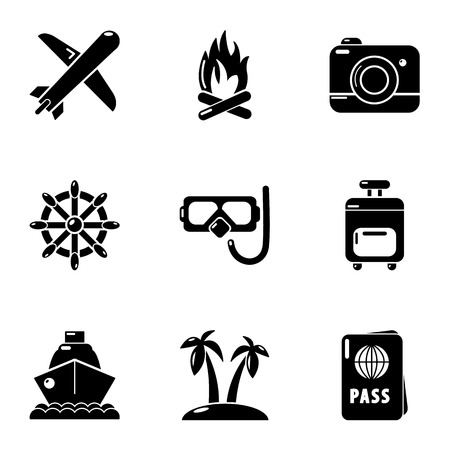 Easy rest icons set. Simple set of 9 easy rest vector icons for web isolated on white background Imagens - 127732758