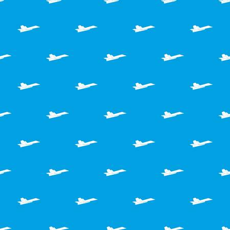 Origami airplane pattern vector seamless blue repeat for any use