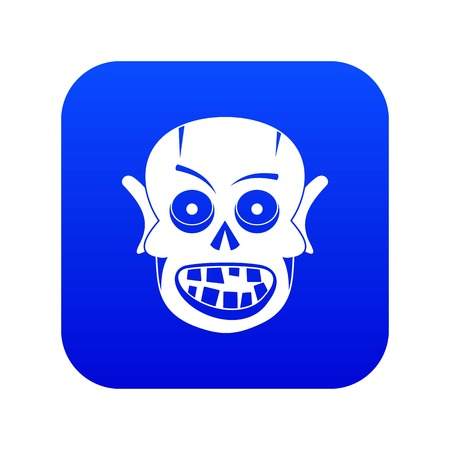 Living dead icon digital blue for any design isolated on white vector illustration