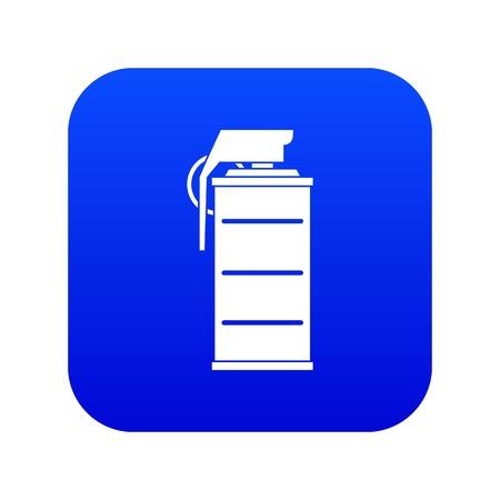 Stun grenade icon digital blue for any design isolated on white vector illustration