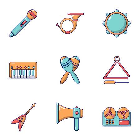 Music day icons set. Flat set of 9 music day vector icons for web isolated on white background Banque d'images - 127732776