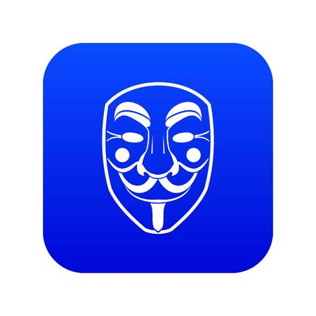 Vendetta mask icon digital blue