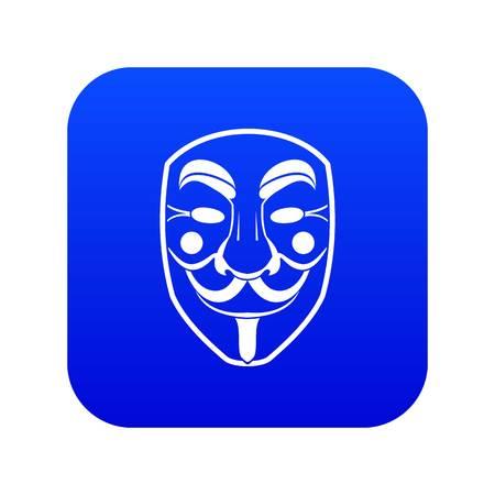Vendetta mask icon digital blue