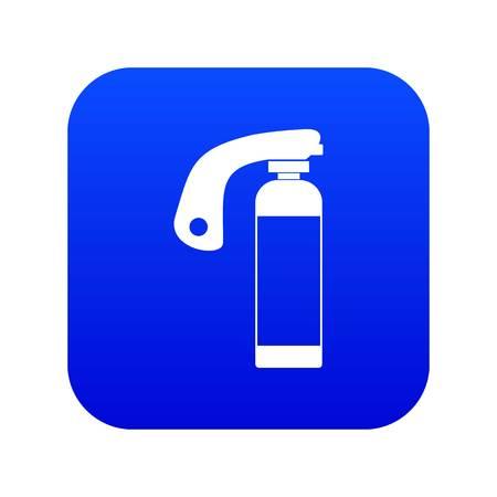 Fire extinguisher icon digital blue