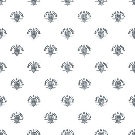 Nut and seed company pattern vector seamless