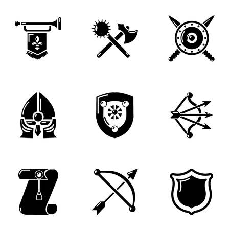 Junk icons set, simple style