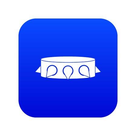Rock collar icon digital blue