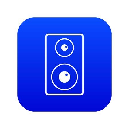 Subwoofer icon digital blue