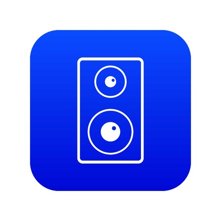 Subwoofer icon digital blue