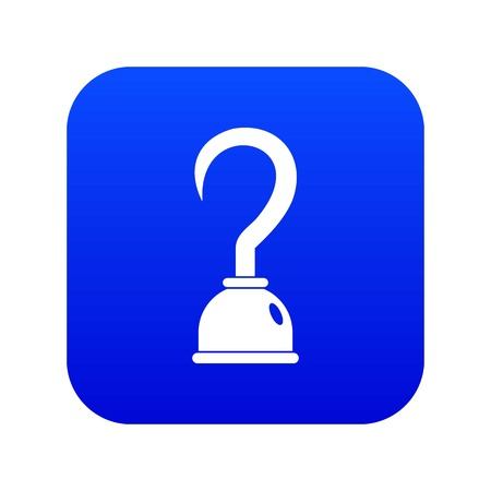 Hook icon digital blue