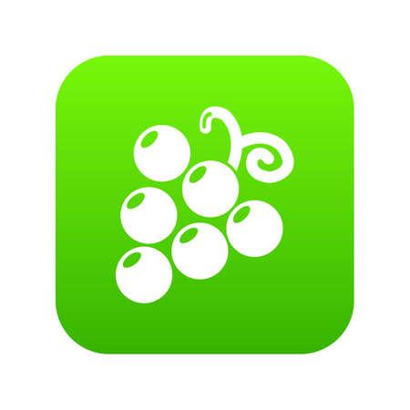 Grapes icon green vector