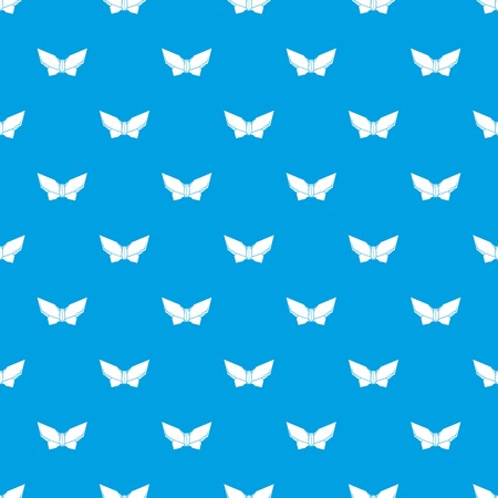 Origami butterfly pattern vector seamless blue