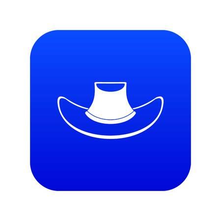 Cowboy hat icon digital blue Illustration