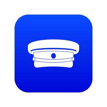 Military hat icon digital blue