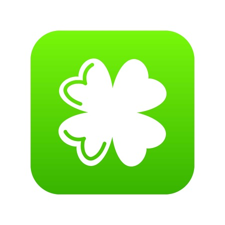 Quatrefoil leaf icon green vector