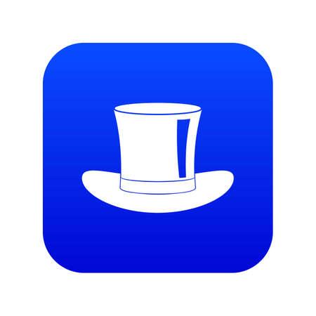 Silk hat icon digital blue