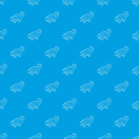 Evoplocephalus pattern vector seamless blue