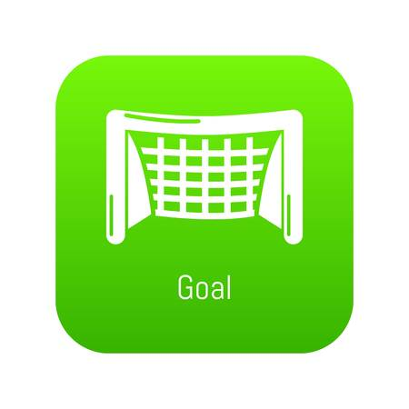 Goal soccer icon green vector isolated on white background Иллюстрация