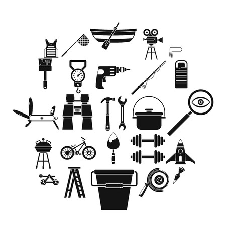 Rig icons set. Simple set of 25 rig vector icons for web isolated on white background Illusztráció
