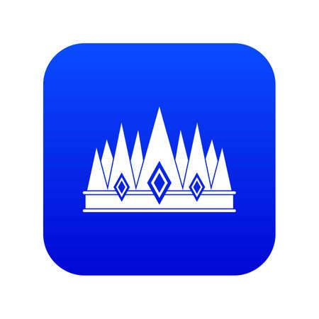 Crown icon digital blue