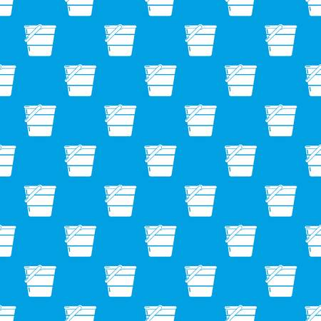 Bucket pattern vector seamless blue repeat for any use