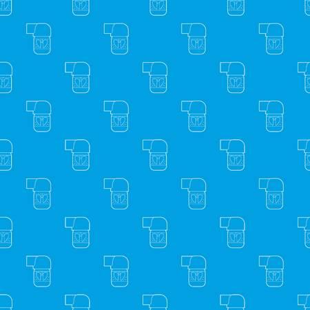 Inhaler for lung pattern seamless blue
