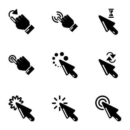 Snap icons set, simple style Stok Fotoğraf